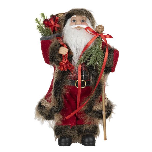 Clayre & Eef Decoratie kerstman 15*11*30 cm 64644