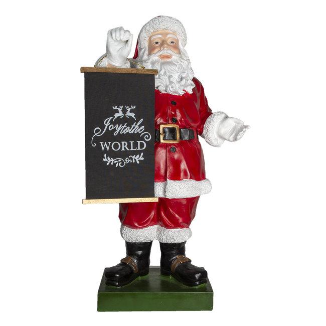 Clayre & Eef Decoratie kerstman 50*34*92 cm 5PR0074