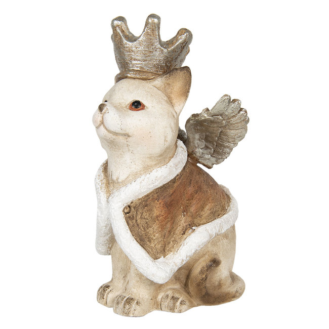 Clayre & Eef Decoratie kat met vleugels 34*21*37 cm 6CE1134