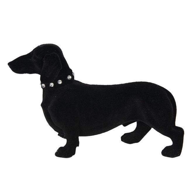 Clayre & Eef Decoratie hond (teckel) 22*8*14 cm 6FU0012Z