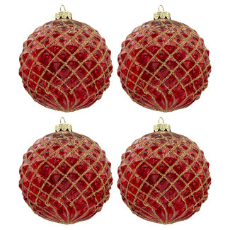 Clayre & Eef Clayre & Eef Doos kerstballen Ø 10 cm (set 4) 6GL3282