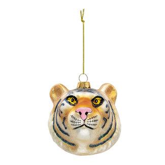Clayre & Eef Clayre & Eef Kerstbal tijger 10*9*10 cm 6GL3309