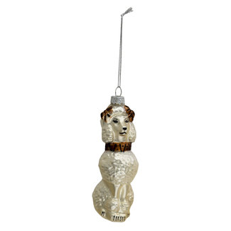 Clayre & Eef Clayre & Eef Kerstbal hond 5*5*14 cm 6GL3362