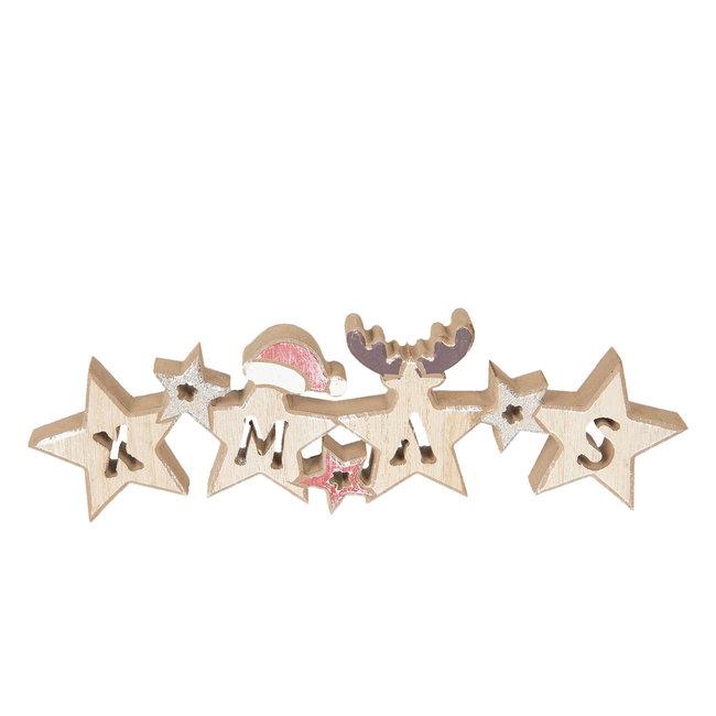 Clayre & Eef Decoratie Kerst 30*2*9 cm 6H1741
