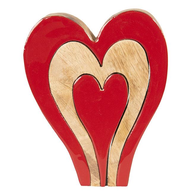 Clayre & Eef Decoratie hart 16*3*20 cm 6H1776M