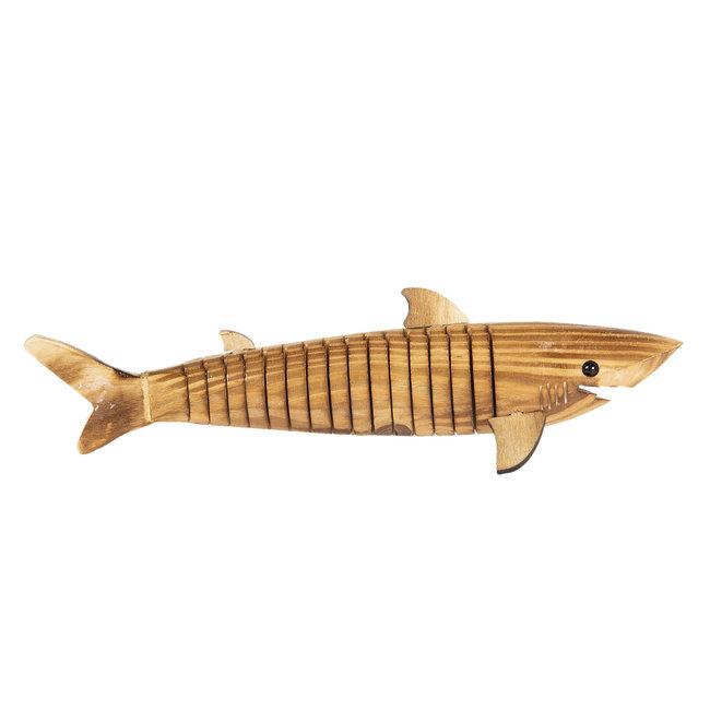 Clayre & Eef Decoratie houten vis 32*5*3 cm 6H1840