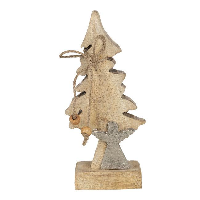 Clayre & Eef Decoratie kerstboom met engel  7*5*17 cm 6H1909