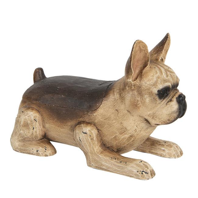Clayre & Eef Decoratie hond franse bulldog 27*13*18 cm 6H1922