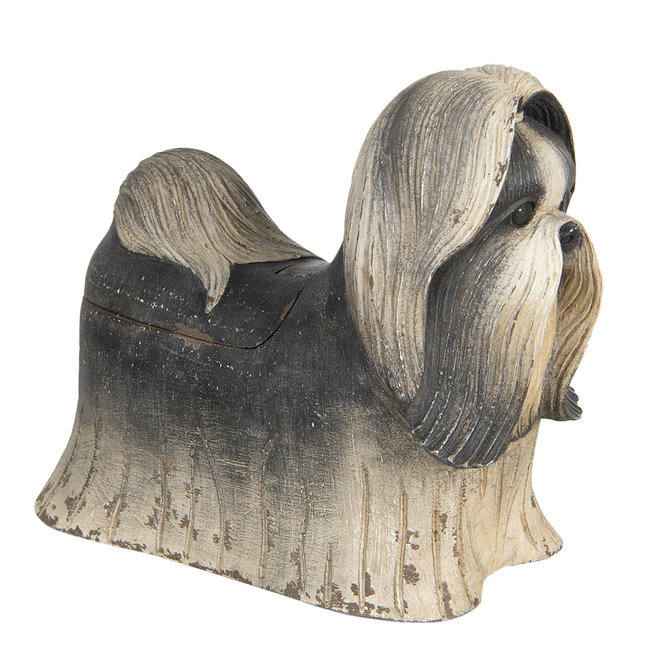 Clayre & Eef Decoratie hond shih tzu 24*12*20 cm 6H1924