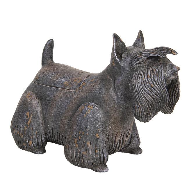 Clayre & Eef Decoratie hond schotse terriër 30*12*20 cm 6H1925