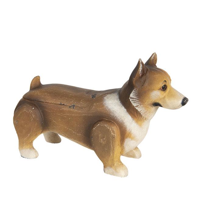 Clayre & Eef Decoratie hond welsh corgi pembroke 34*11*22 cm 6H1926