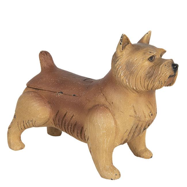 Clayre & Eef Decoratie hond norwich terriër 27*13*21 cm 6H1927