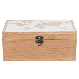 Clayre & Eef Clayre & Eef Kist van hout 24*16*10 cm 6H1932