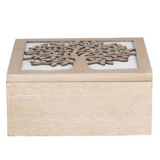 Clayre & Eef Clayre & Eef Kist van hout 20*20*9 cm 6H1941