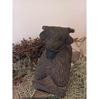 Thils Living Landelijk betonen buffel beeldje 20125