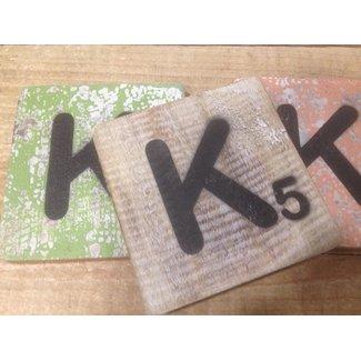 Thils Living houten scrabble  letters & tekens Scrabble Letter K