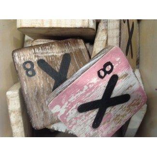 Thils Living houten scrabble  letters & tekens Scrabble Letter X