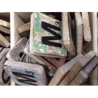 Thils Living houten letters & tekens Scrabble Letter M