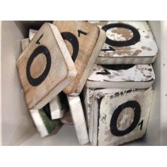 Thils Living houten letters & tekens Scrabble Letter O