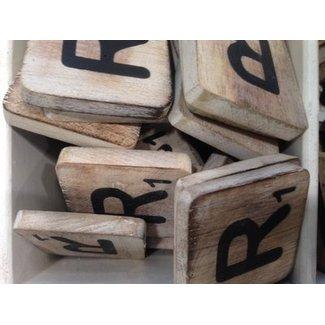 Thils Living houten letters & tekens Scrabble Letter R