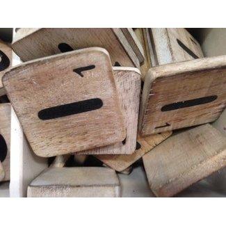 Thils Living houten letters & tekens Scrabble Letter I