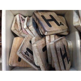 Thils Living houten letters & tekens Scrabble Letter H