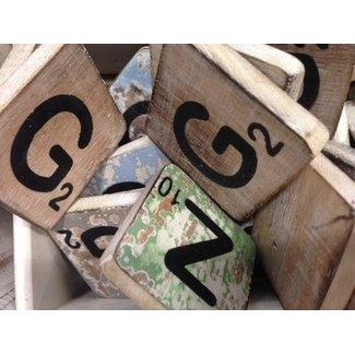 Thils Living houten letters & tekens Scrabble Letter G