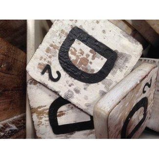 Thils Living houten letters & tekens Scrabble  letter D