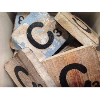 Thils Living houten letters & tekens Scrabble Letter C