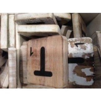 Thils Living houten letters & tekens Letter T