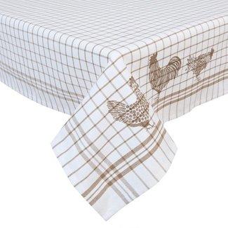 Clayre & Eef Clayre & Eef Vierkant Tafelkleed CSC01N 100*100 cm - Natuur 100 % katoen