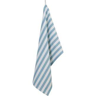Clayre & Eef Keukendoek | 50*85 cm | Blauw | 100% Katoen | schelpen | Clayre & Eef | SES42-1BL
