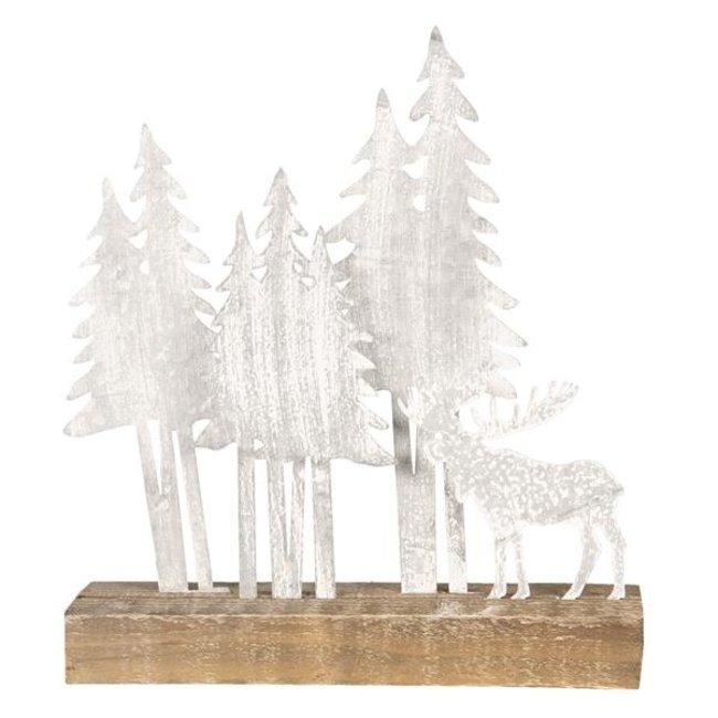 Clayre & Eef Decoratie kerstboom met eland 30*8*34 cm 64314