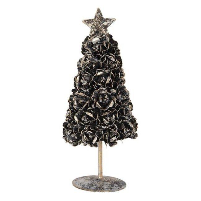 Clayre & Eef Decoratie kerstboom 8*8*20 cm 6Y3749