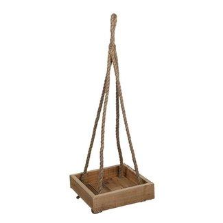 Clayre & Eef Clayre & Eef Hangend rek hout 25*25*6/72 cm 6H2049