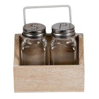 Clayre & Eef Clayre & Eef Peper- en zoutstel 11*6*12 cm 6H2064