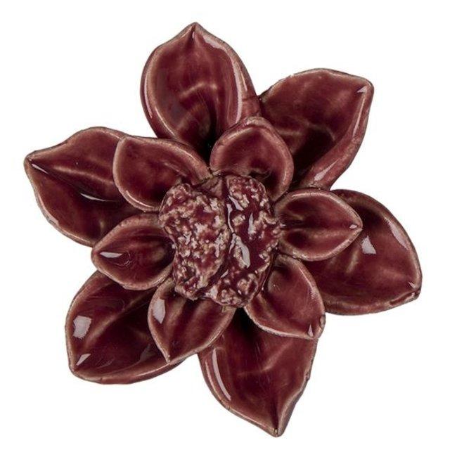 Clayre & Eef Decoratie bloem Ø 8*4 cm 6CE1329