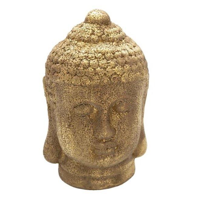 Clayre & Eef Decoratie hoofd Boeddha 14*14*23 cm 6CE1304