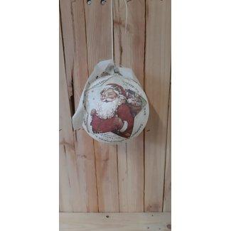 Thils Living Grote kerstbal met kerstman print 201225