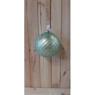 Thils Living Groen kerstbal met motief 201231