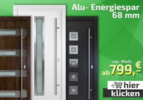 Energiespar Alu-Tür-AC 68mm