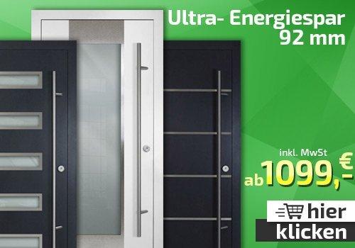 Ultra-Energiespar Alu-Tür-DS 92mm