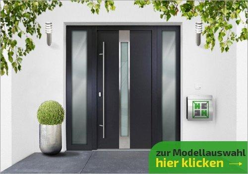 Tür mit 2 Seitenteilen
