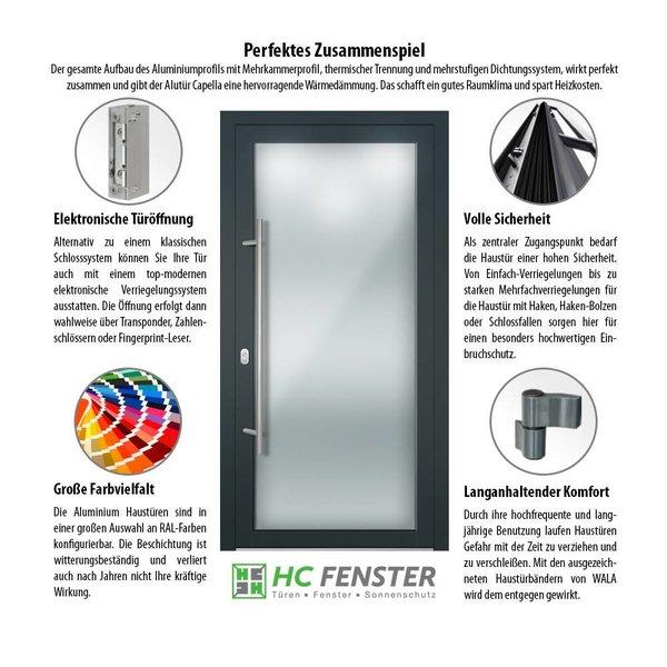 Alu-Haustür MB-Vision Plus Capella - Ral 7001 Silbergrau