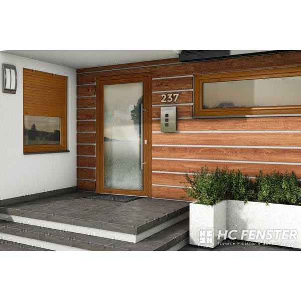 Alu-Haustür MB-Vision Plus Capella - Goldene Eiche