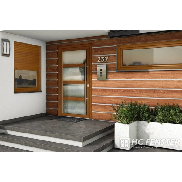 Alu-Haustür MB-Vision Plus Alchena - Ral 7001 Silbergrau