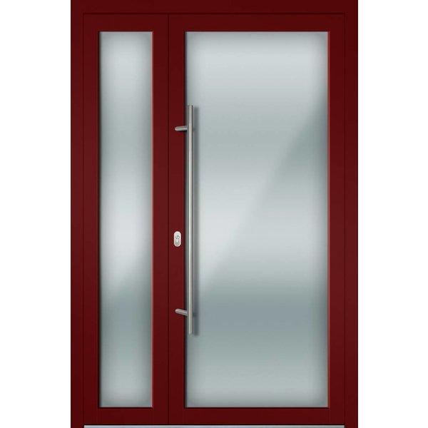 Alu-Haustür MB-Vision Plus Torra Ral 3005 Weinrot zweiflügelig