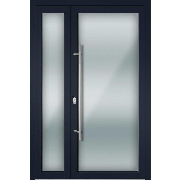 Alu-Haustür MB-Vision Plus Torra Ral 5011 Stahlblau zweiflügelig