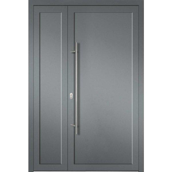 Alu-Haustür MB-Vision Plus Mirra Ral 7001 Silbergrau zweiflügelig