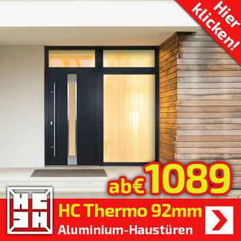 HC-Thermo plus  Alu-Haustüren 92mm